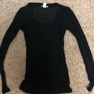 Women's Bozzolo Thin Long Sleeve T with Pattern Sm